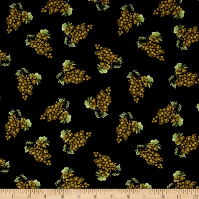 Vintage Tossed Grape Clusters Black
