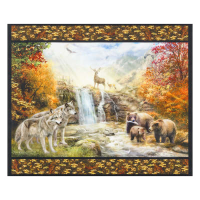 "Kaufman Digital 35"" Panel Nature Scenic Double Border Nature"