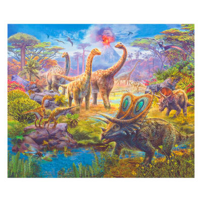 "Kaufman Digital 35"" Panel Pre-Historic Scenic Adventure"
