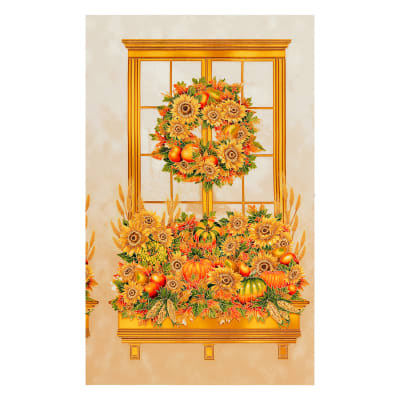 "Kaufman Shades of the Season Metallic 24"" Panel Harvest"