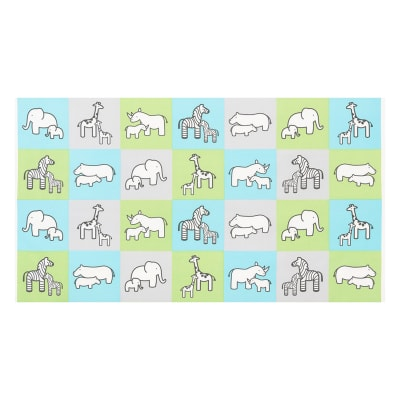 Kaufman Little Safari Flannel Blocks Aqua