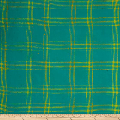 Alison Glass Handcrafted Batiks Chroma Plaid Emerald