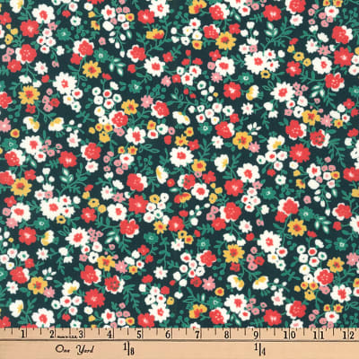 Kaufman Petite Garden Floral Spray Black