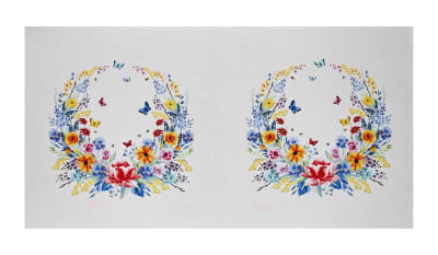 "Michael Miller Garden Party 23.5"" Panel White"