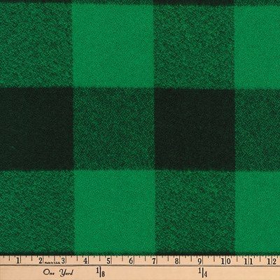 Kaufman Mammoth Flannel Buffalo Check Large Green
