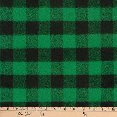 Kaufman Mammoth Flannel Buffalo Check Medium Green