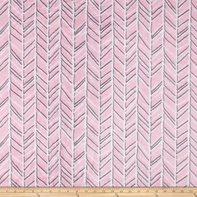 Shannon Studio Minky Cuddle Herringbone Blush/Graphite