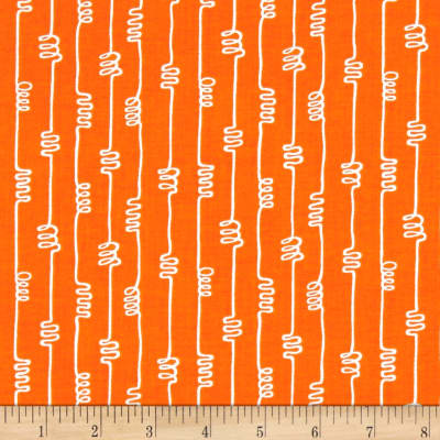 Notepad Squiggle Orange