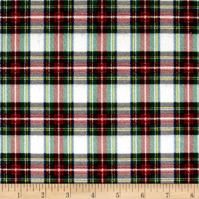 Mad for Plaid Flannel Mini Stewart Plaid White