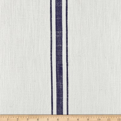 Moda Blue Plate Toweling End Stripes Cream/Blue