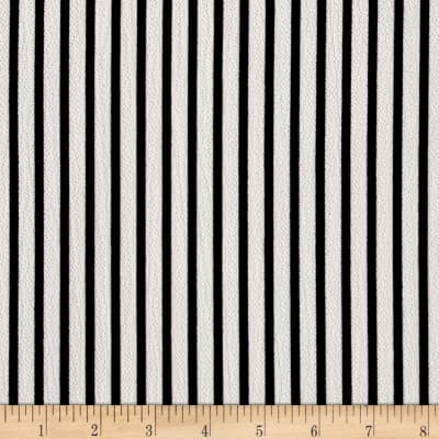 Bubble Crepe Small Stripe Black/White