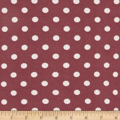 Bubble Crepe Medium Polka Dots Mauve/White