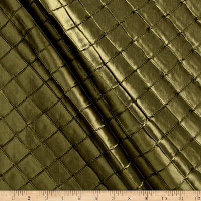 "1"" Diamond Pintuck Taffeta Green"