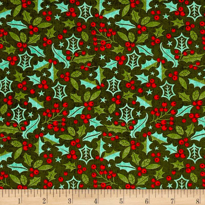 Moda Berry Merry Holly Forest