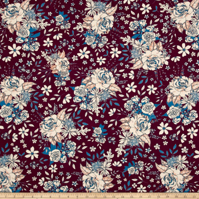 Art Gallery Soulful Floral Universe Plum