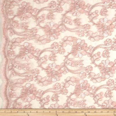 Starlight Mesh Lace Rosedale Pink