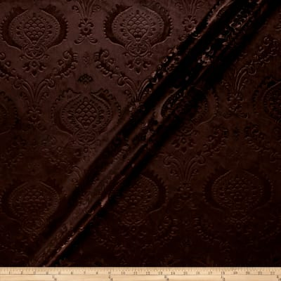 Damask Embossed Velvet Chocolate