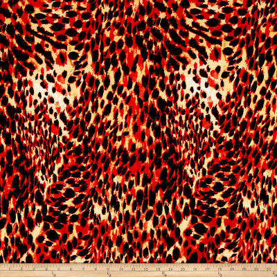 ITY Jersey Knit Cheetah Print Red/Black