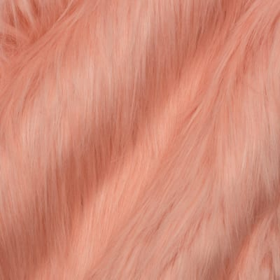 Shannon Afghan Hound Faux Fur Coral