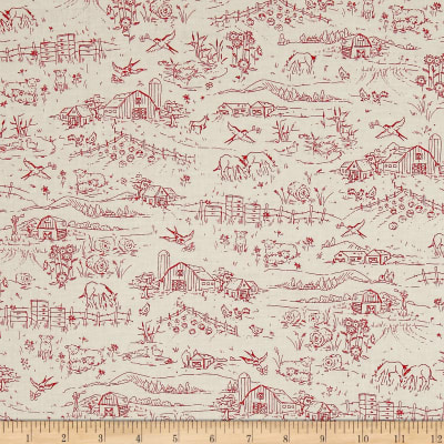 Country Days Toile Red