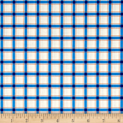 Wee Play Plaid Blue