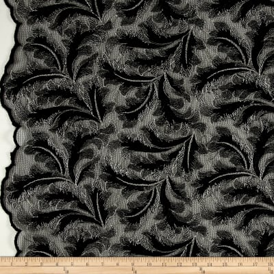 Telio Extravagance Embroidered Lace Black/Silver