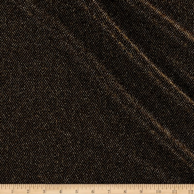 Telio Stretch Nylon Knit Metallic Diamond Gold/Black