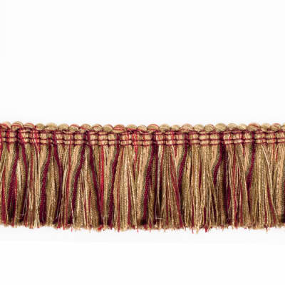 "Fabricut 2.125"" Banni Brush Fringe Berry"