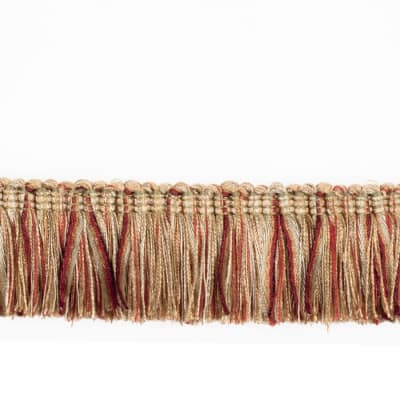 "Fabricut 2.125"" Banni Brush Fringe Winter Garden"