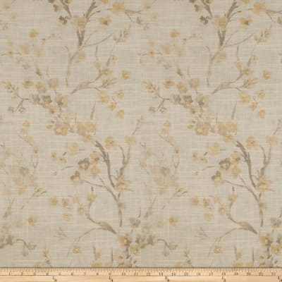 Fabricut Brovina Floral Linen Blend Chamomile