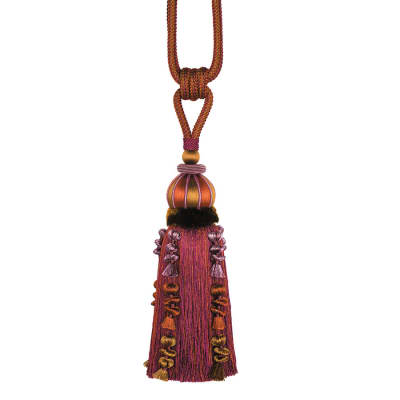 "Fabricut 32"" Caffiato Single Tassel Tieback Sunset"