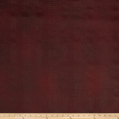 Fabricut Crocodile Rock Faux Leather Wine