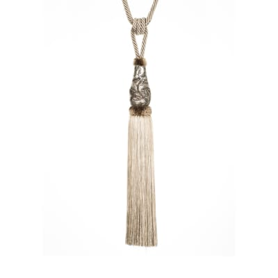 "Fabricut 36"" De Beers Single Tassel Tieback Alloy"