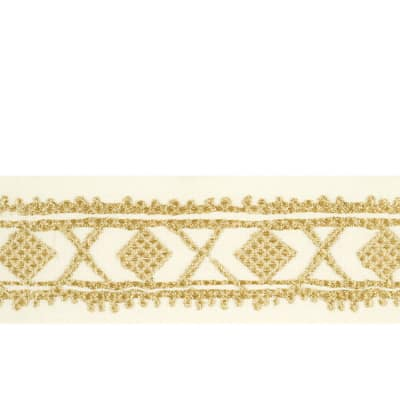 "Isabelle de Borchgrave 2.5"" Diamond Metallic Trim Metallic Gold"