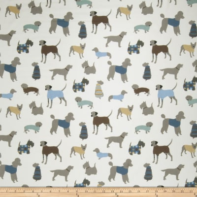 Fabricut Doggy Days Blue