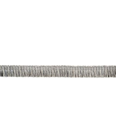 "Fabricut  7/8"" Dowlas Brush Fringe Grey"