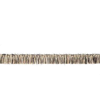 "Fabricut  7/8"" Dowlas Brush Fringe Peppercorn"