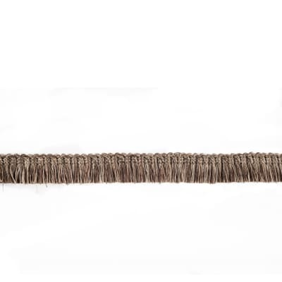 "Fabricut  7/8"" Dowlas Brush Fringe Bark"