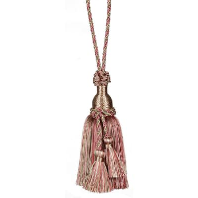 "Fabricut 11"" Ellie Key Tassel Strawberry"