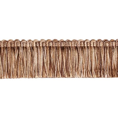 "Fabricut 1.5"" Escargot Brush Fringe Walnut"