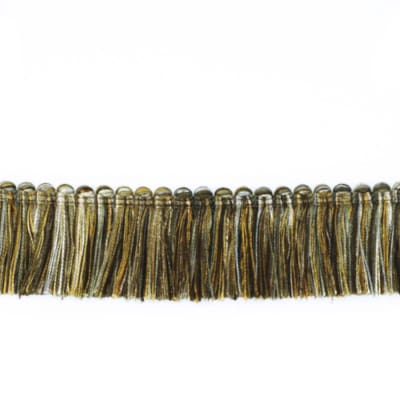 "Fabricut 1.5"" Escargot Brush Fringe Oxidized"