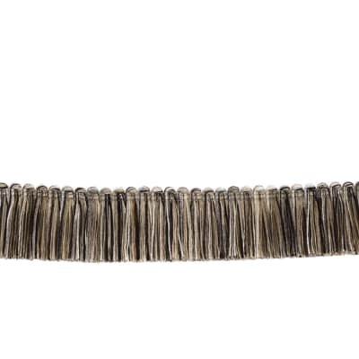 "Fabricut 1.5"" Escargot Brush Fringe Zebra"