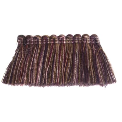 "Fabricut 1.5"" Escargot Brush Fringe Eggplant"