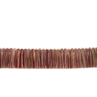 "Fabricut 1.5"" Escargot Brush Fringe Watermelon"