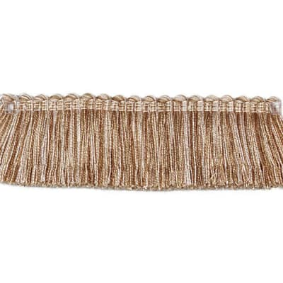 "Fabricut 1.5"" Escargot Brush Fringe Hemp"