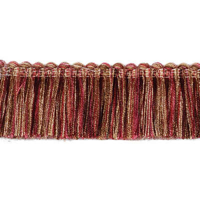 "Fabricut 1.5"" Escargot Brush Fringe Woodrose"