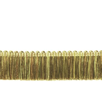 "Fabricut 1.5"" Escargot Brush Fringe Ivy"