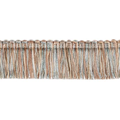 "Fabricut 1.5"" Escargot Brush Fringe Aquamarine"