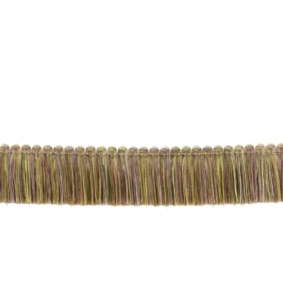 "Fabricut 1.5"" Escargot Brush Fringe Lavender Twist"