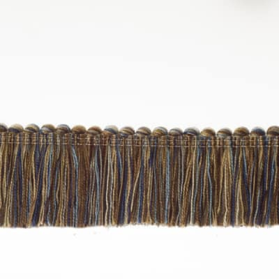 "Fabricut 1.5"" Escargot Brush Fringe Heritage"